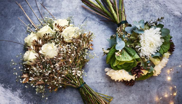 Waitrose Avalanche Rose Bouquet and Waitrose Winter Wonderland Bouquet - Christmas 2017