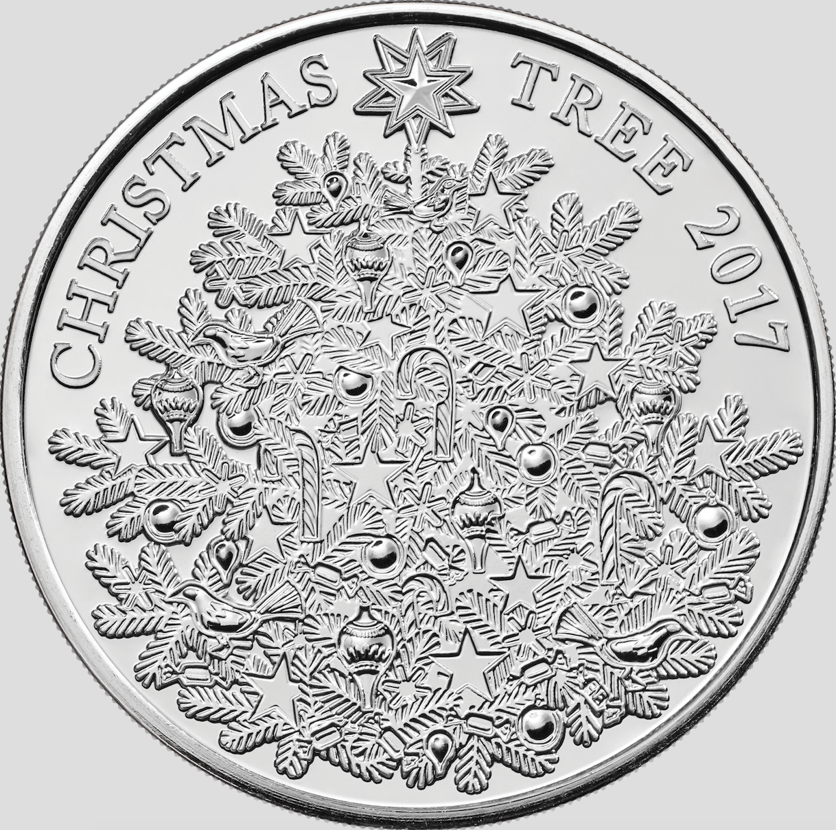 The Royal Mint Unveils Silver 5 Christmas Tree Coin 2017
