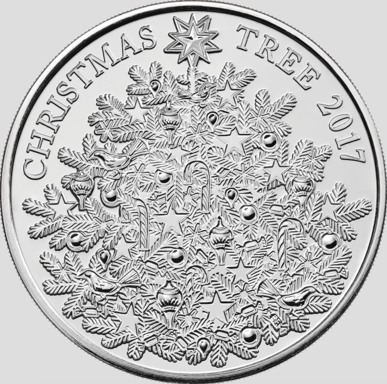 2017 the christmas tree 5 uncirculated coin royal mint - 5 Christmas Tree