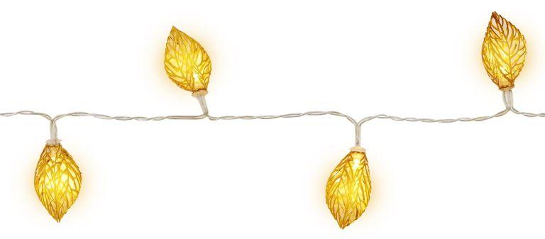 Gold leaf fairy lights, Tesco