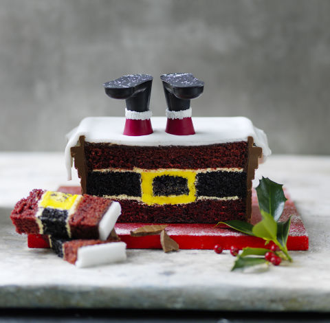 Santa s stuck in the chimney is marks and spencer 39 s best Santa stuck in chimney cake