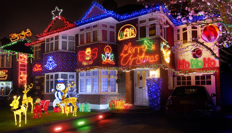 Most decorated christmas house uk for sale