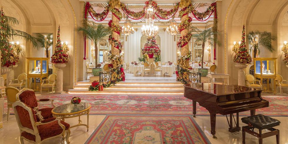 christmas decorations at the ritz hotel - Orange Hotel Decoration