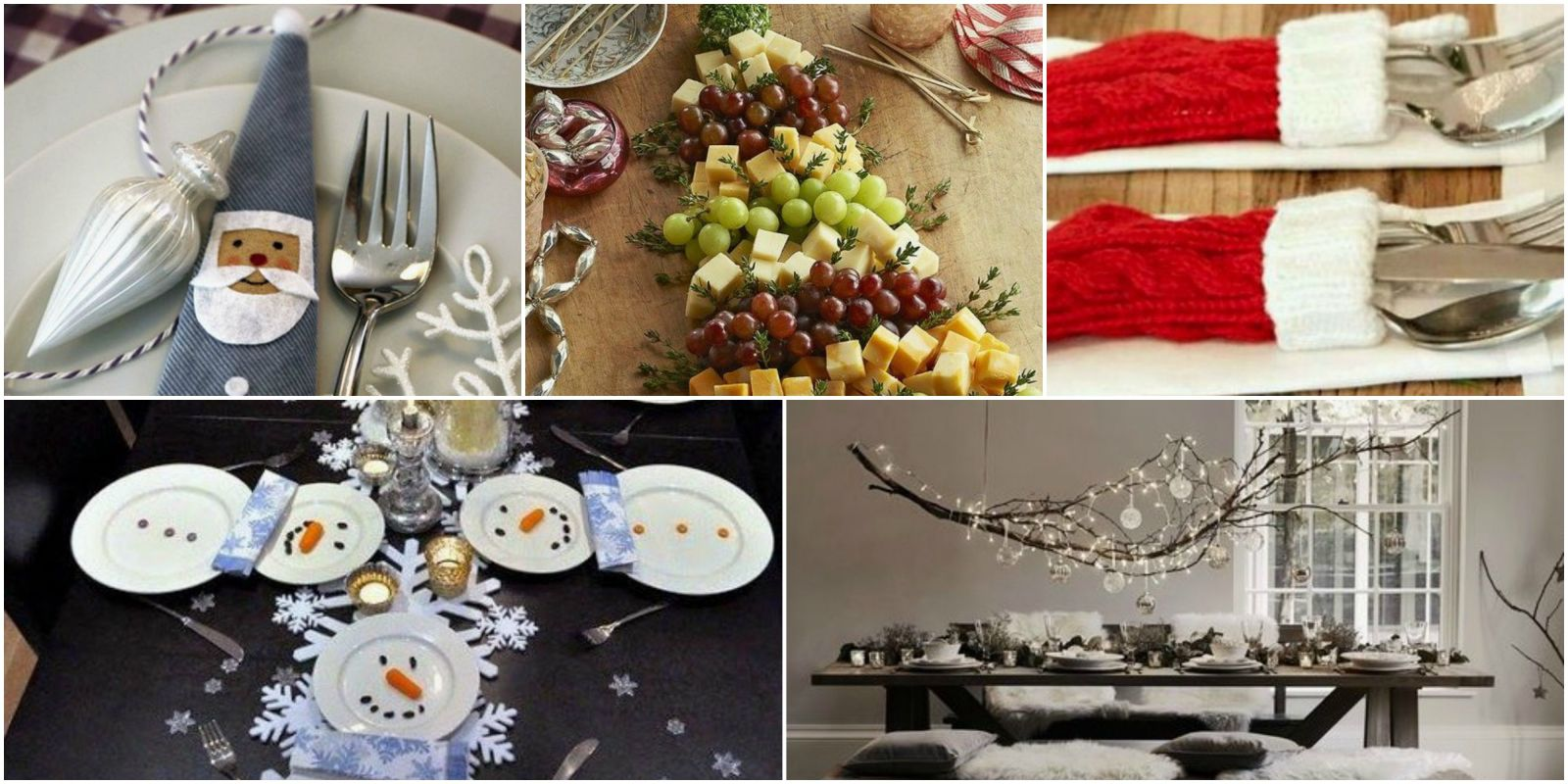 15 fun and quirky christmas table setting ideas - Christmas table setting ideas ...