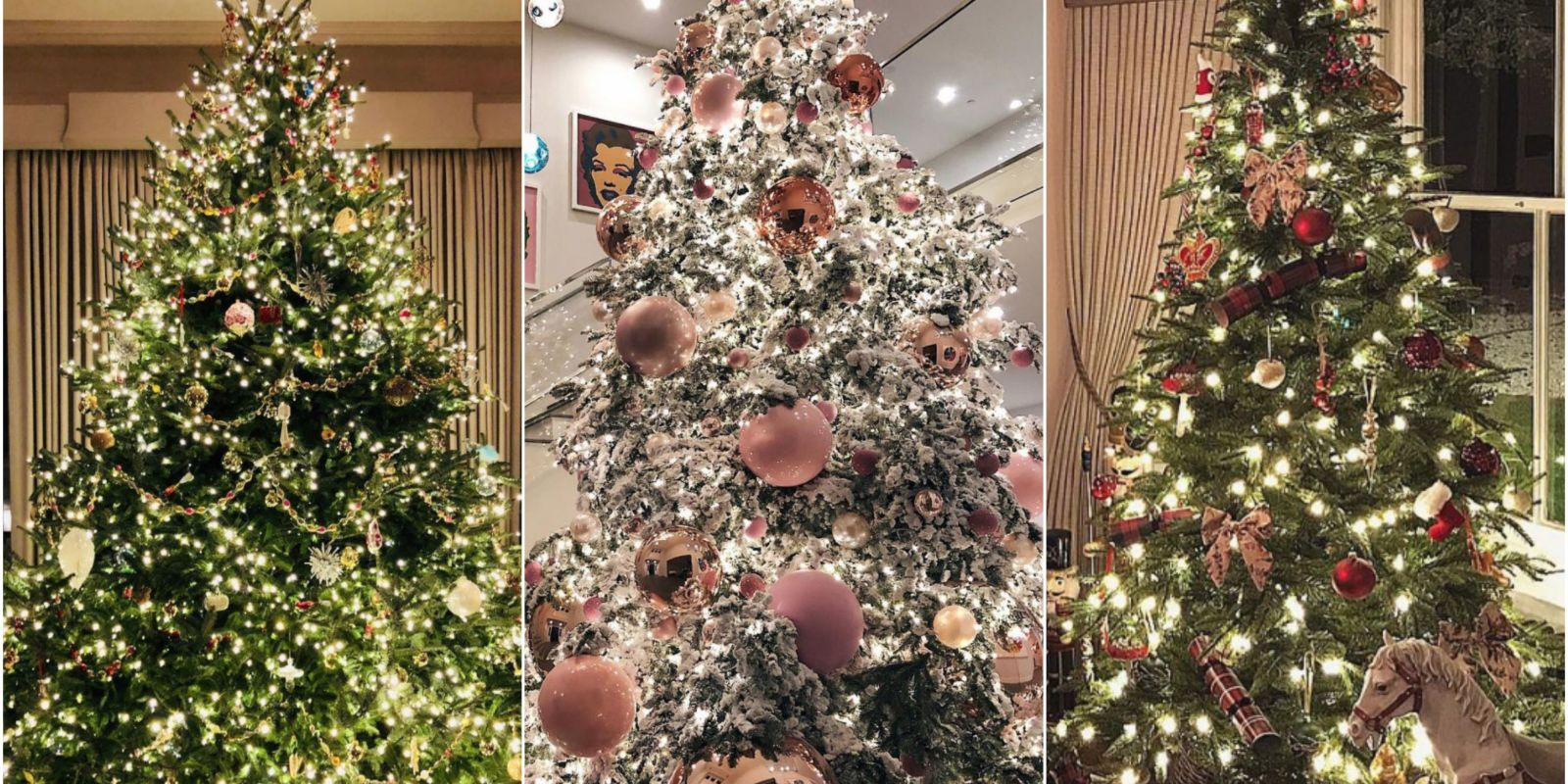 The Best Celebrity Christmas Trees 2017