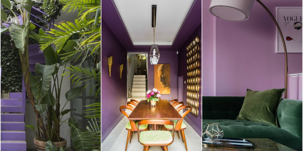 peek inside some stunning luxury rental homes and get inspired by the 2018 colour of the year - Violet Home Ideas