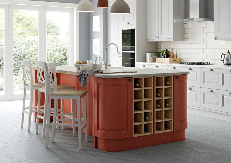 Masterclass Kitchens   Scotts Grey And Terracotta Sunset Colour Scheme    Carnegie Kitchen. U0027