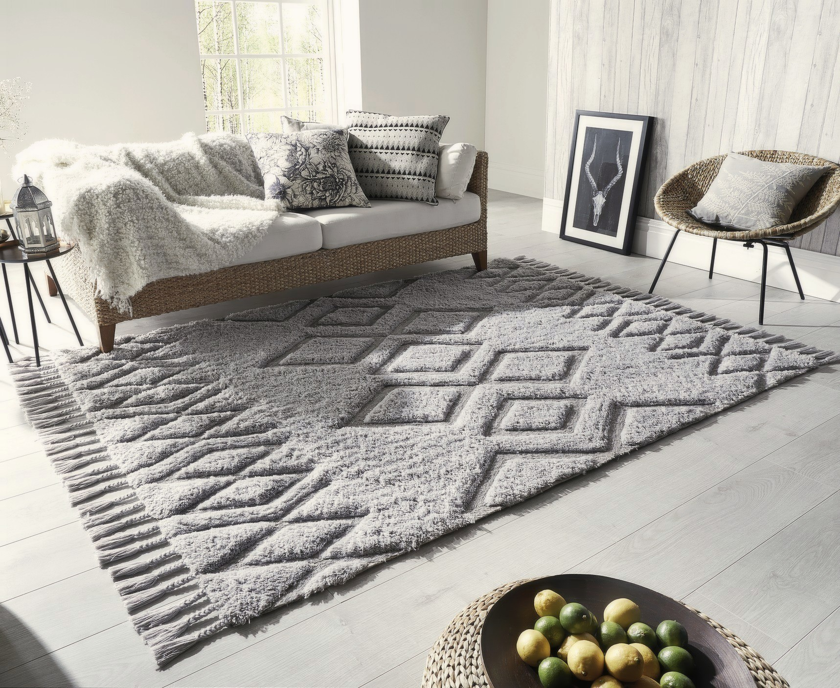 10 of the Best Grey Rugs - Large Rugs For Living Room ...
