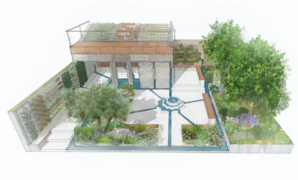 The Lemon Tree Trust Garden - Chelsea Flower Show 2018