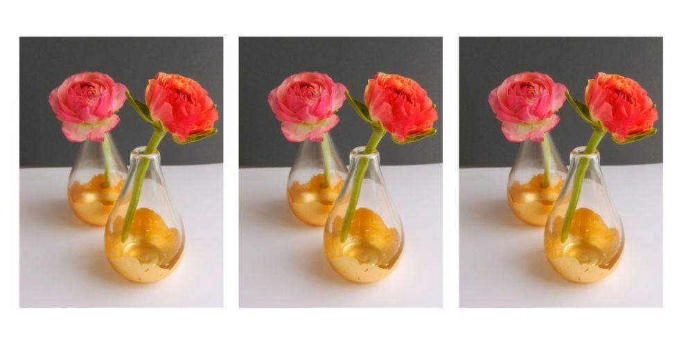 Gilded gold vase